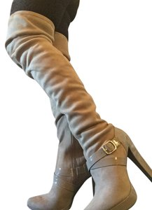 Jennifer Lopez Elegant With An Edge Partial Zipper Wrap Strap Buckle Trim So Soft tan suede Boots