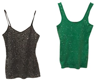Express Top Silver and green