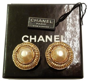 Chanel Chanel Faux Pearl Earrings