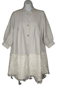Modcloth Valerie Tolosa Lace Bogo Shirt Dress Tunic