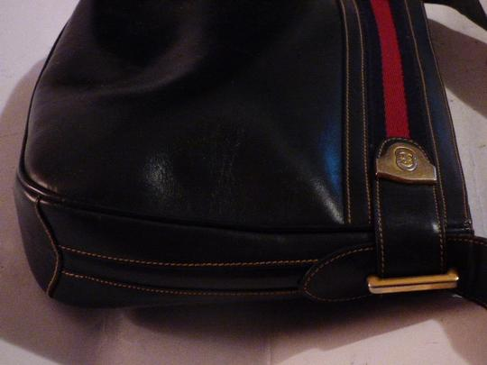 Gucci Hobo/Shoulder Mint Vintage Early Style Red/Blue Two-tone Hardware Hobo Bag Image 11