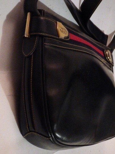 Gucci Hobo/Shoulder Mint Vintage Early Style Red/Blue Two-tone Hardware Hobo Bag Image 3