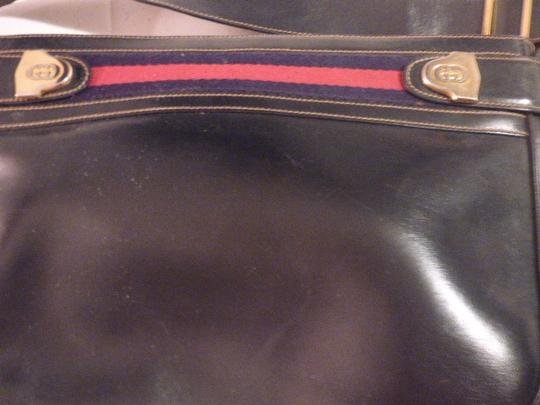 Gucci Hobo/Shoulder Mint Vintage Early Style Red/Blue Two-tone Hardware Hobo Bag Image 6