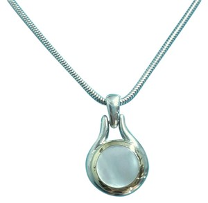 Tiffany & Co. Tiffany & Co. 1999 Collection 18 Karat Yellow Gold And Sterling Silver Mother Of Pearl Necklace With 16