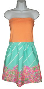 Lilly Pulitzer short dress Strapless Knit Printed Mini on Tradesy