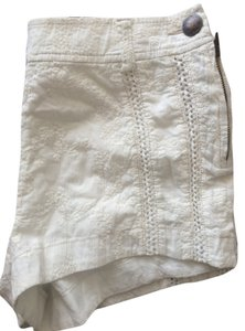 Free People Lace Vintage Short Detail Dress Shorts White