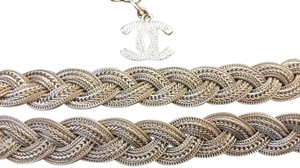 Chanel New Intricately Woven Gold Tone Jewelry Chain Belt