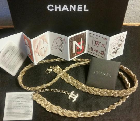 Chanel New Intricately Woven Gold Tone Jewelry Chain Belt Image 1
