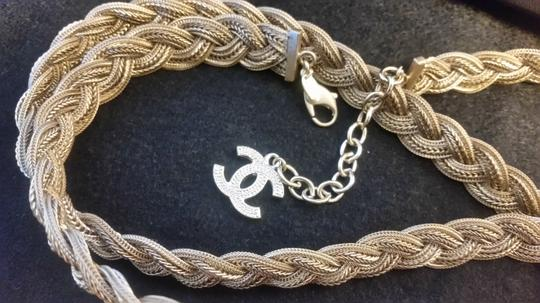 Chanel New Intricately Woven Gold Tone Jewelry Chain Belt Image 10