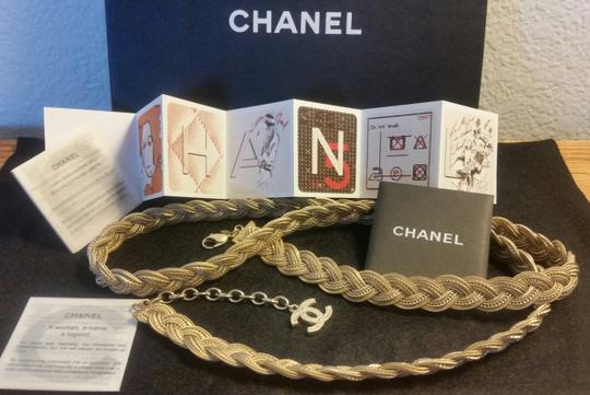 Chanel New Intricately Woven Gold Tone Jewelry Chain Belt Image 11