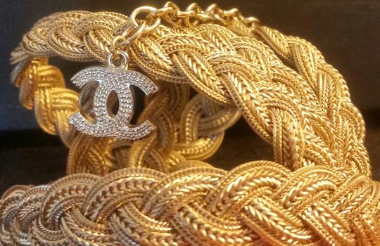 Chanel New Intricately Woven Gold Tone Jewelry Chain Belt Image 2