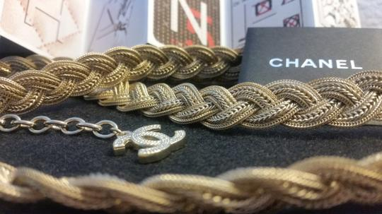 Chanel New Intricately Woven Gold Tone Jewelry Chain Belt Image 3