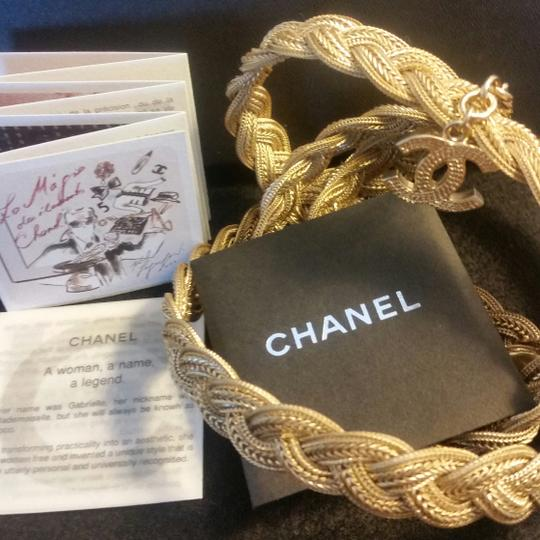 Chanel New Intricately Woven Gold Tone Jewelry Chain Belt Image 4