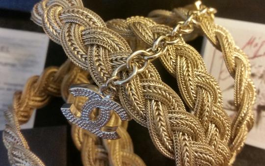 Chanel New Intricately Woven Gold Tone Jewelry Chain Belt Image 8