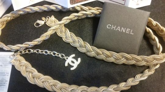 Chanel New Intricately Woven Gold Tone Jewelry Chain Belt Image 9