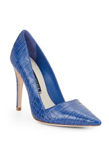 Alice + Olivia Crocodile Embossed Cobalt Blue Pumps