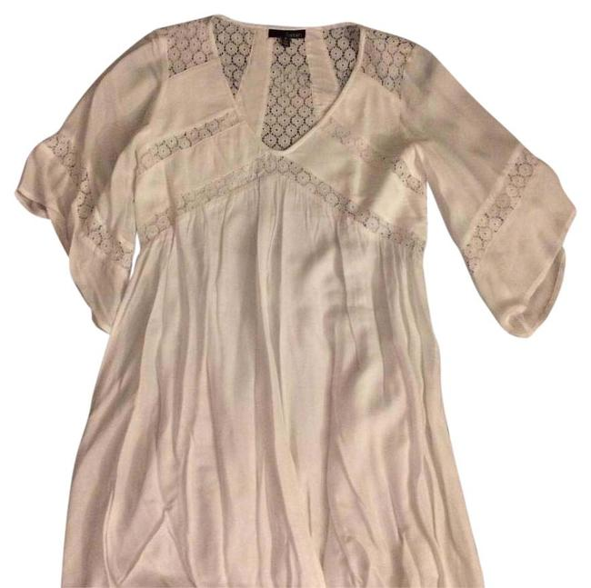 Item - White Above Knee Short Casual Dress Size 4 (S)