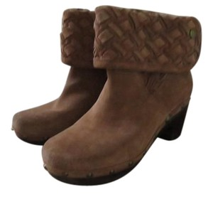 UGG Australia Ugg. Suede Ankle Boots Chunky Heels chestnut Mules