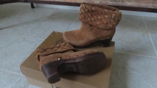 UGG Australia Ugg. Suede Ankle Boots Chunky Heels chestnut Mules Image 5