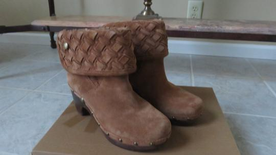 UGG Australia Ugg. Suede Ankle Boots Chunky Heels chestnut Mules Image 6
