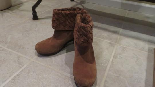 UGG Australia Ugg. Suede Ankle Boots Chunky Heels chestnut Mules Image 8