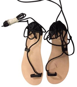 Jeffrey Campbell Black laces nude base Sandals