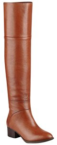 Tommy Hilfiger Leather Over The Knee Zipper brown Boots