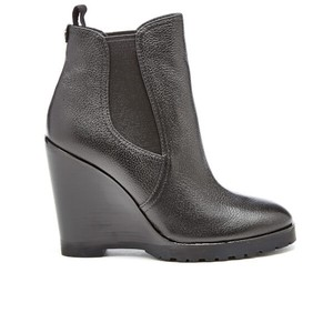 Michael Kors Wedge Leather Black Boots