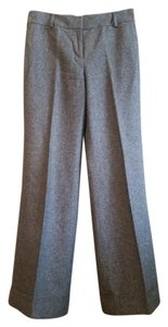 Ann Taylor LOFT Lined Business Casual Winter Trouser Pants Gray