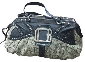 Guess Satchel in Black Gray