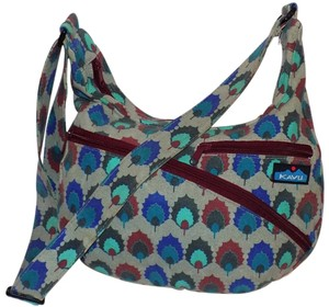 Kavu Retro Canvas Bohemian Bold Print Cross Body Bag