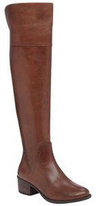 Vince Camuto Leather Tall Russet (Brown) Boots
