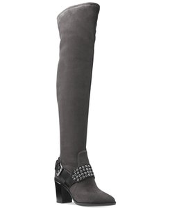 Michael Kors Suede Side Zipper Embellished Charcoal Boots