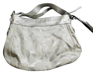 Coach Silver Hobo One Shoulder Bag