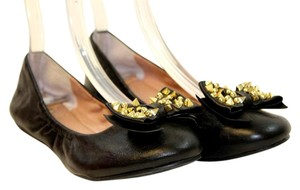 Vince Camuto Studded Leather Black Flats