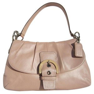 Coach Soho Leather Flap Pleated Shoulder Bag