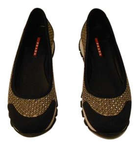 Prada Studded Honeycomb Design Desserto/Black Athletic