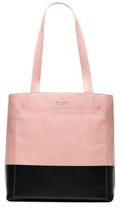 Kate Spade Pebble Leather Lita Street Andrea Tote in PINK BON/BLACK