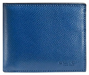 Coach Coach Men's Denim Leather Wallet WITH Compact ID CASE 74974