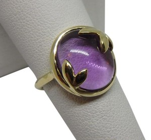 Tiffany & Co. Picasso Olive Leaf 6ct Amethyst 18k Yellow Gold Ring 7