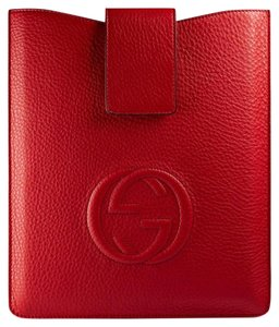 Gucci GUCCI 305986 Red Leather Soho Ipad Case Cover