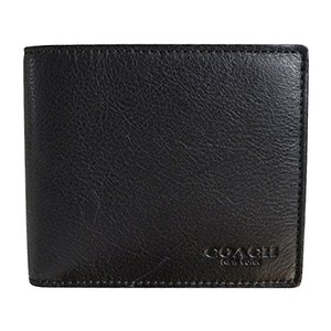 Coach Coach Men's Black Leather Wallet WITH Compact ID CASE 74991