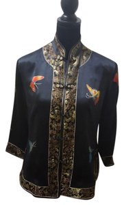 Jin Jiao Silk Black Jacket