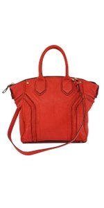 MILLY Coral Textured Leather Tote