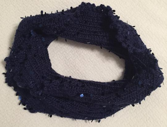 Other Blue Cowl Neck Infinity Scarf Image 7