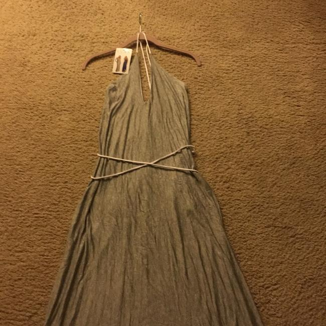 Grey/White Maxi Dress by Elan Image 2