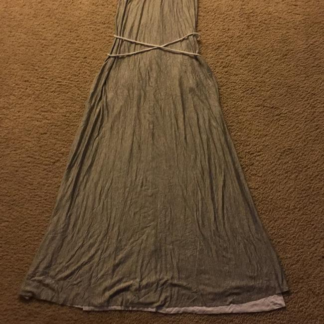 Grey/White Maxi Dress by Elan Image 3