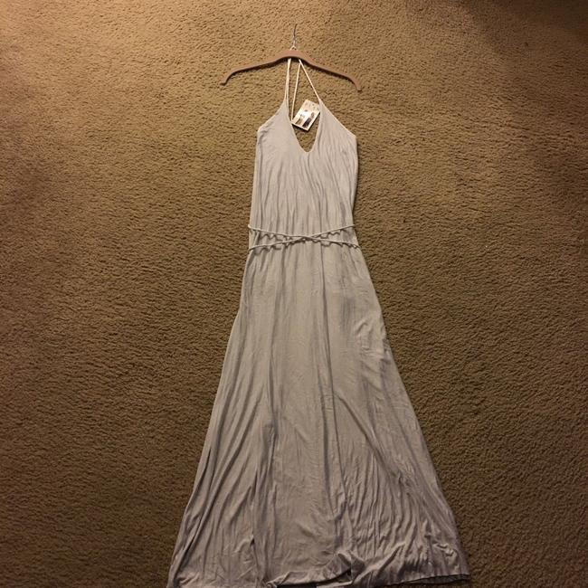 Grey/White Maxi Dress by Elan Image 4