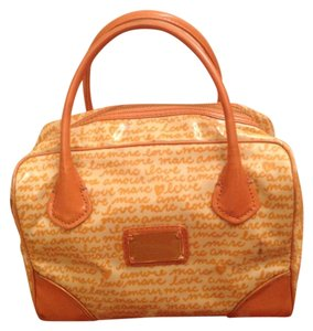 Marc by Marc Jacobs Satchel in Orange/Cream