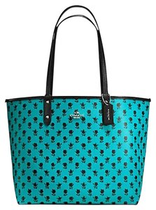 Coach Reversible Turquoise F55863 Tote